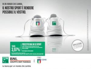 BNL e CONI - W Lo Sport per finanziare le attivita' sportive