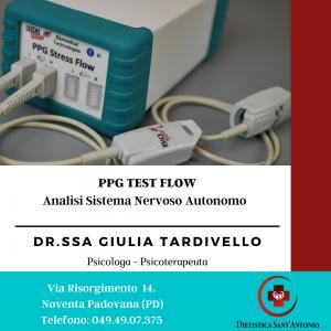 PPG Test Flow analisi sistema nervoso centrale